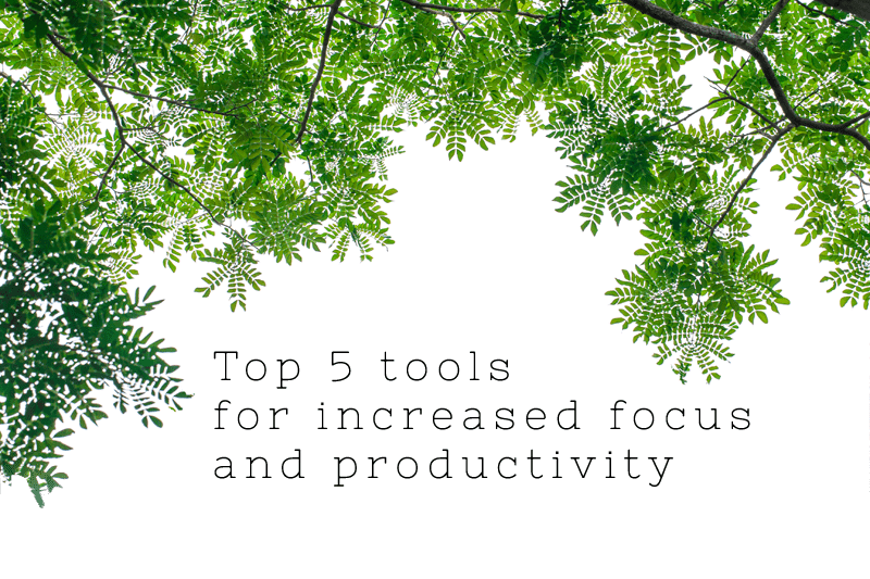 Top 5 tools for increased focus and productivity